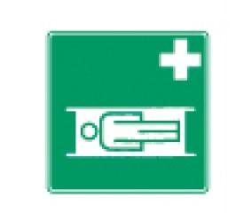 Rettungszeichen Krankentrage