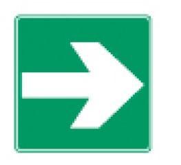 Rettungszeichen-Richtungspfeil-für-Rettung