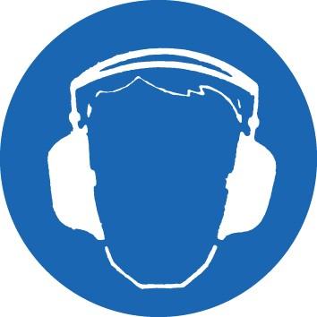 Gebotsschild Gehörschutz