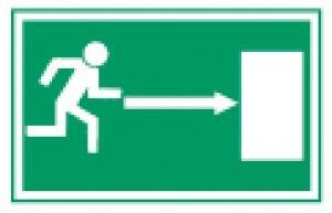 Rettungszeichen-Rettungsweg-Rechts