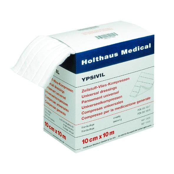 YPSIVIL Zellstoff-Vlies-Kompresse unsteril