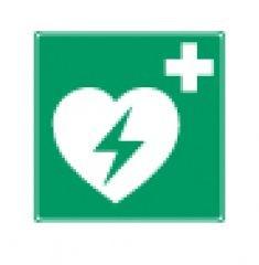 Rettungszeichen Defibrillator