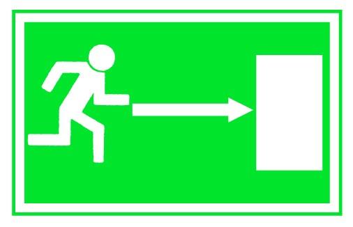 Rettungszeichen Rettungsweg links
