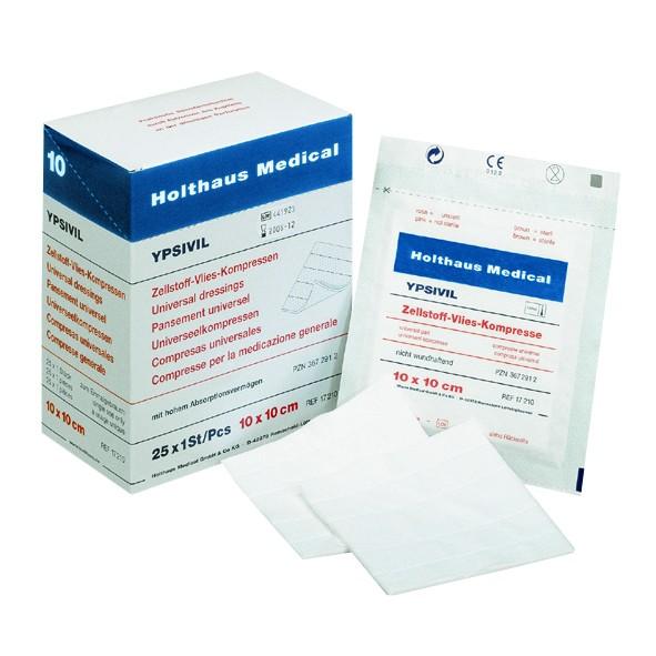 YPSIVIL Zellstoff-Vlies-Kompresse steril